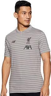 <b>Liverpool FC</b> Grey Short Sleeve Cotton Mens Football Training ...