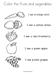 Small Picture Color the fruits and vegetables Coloring Page Twisty Noodle