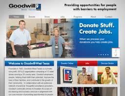 abilene web design web development website marketing i think goodwill west texas