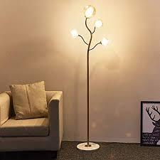 <b>Tall Brass</b> Color Mainstay Floor Lamp, Retro <b>Style</b> Living Room ...