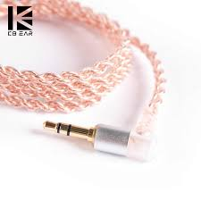 KB EAR <b>4</b> core <b>copper cable</b> with metal 2pin QDC 3.5mm Connector ...