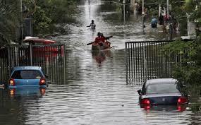 Image result for lingkungan banjir di karawang