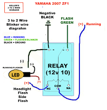 wiring diagram for motorcycle running lights info how to 3 wire to 2 wire indicators running lights sportbikes wiring