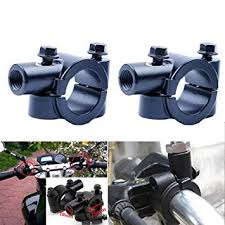 2pcs 10mm universal motorcycle rearview mirror side mirrors round left and right for motorbike
