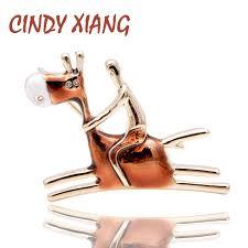 <b>CINDY XIANG New</b> Arrival Carton <b>Design</b> Ride Donkey Man Brooch ...