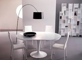 dining table parson chairs interior: modern dining room design with ikea floor lamp