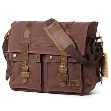 "Lifewit 15.6""-17.3"" <b>Men's Messenger</b> Bag Vintage <b>Canvas</b> Leather ..."