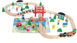China <b>Wooden</b> Multifunction <b>80PCS</b> Railway Train <b>Toy</b> Set for Kids ...