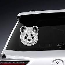 Zentangle Panda <b>Bear Head Sticker</b>