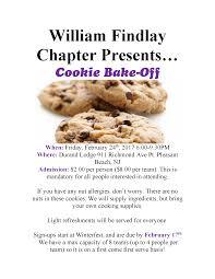 william findlay cookie bake off nj demolay cookie bake off flyer middot cookie cook off rules and sign up sheet