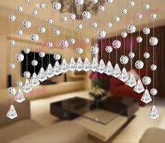 pure handmade 5 strings glass crystal curtain door and window curtain pineapple bead porch partition curtain cheap office partitions