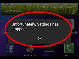How to fix unfortunately settings has stopped working in android ...