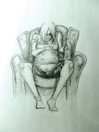 Image result for Isolation and loneliness are depicted in this image by graphic artist Ren Lonechild, which shows a woman drinking during her last trimester of pregnancy, thereby risking Fetal Alcohol Disorder to her baby. Lonechild is a graphic artist who lives in North Hastings and uses traditional pencil sketches to portray social and political issues. Photo by Ren Lonechild