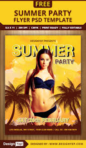 summer party flyer psd template designyep summer party flyer psd template