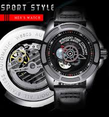 <b>WISHDOIT Mens</b> Watches New Men <b>Skeleton</b> Tourbillon Moon ...