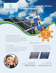 flyer for green planet solar panel cleaning company print design flyer for green planet solar panel cleaning company logo design concepts 3