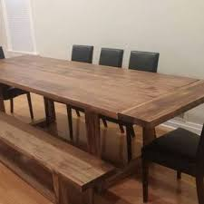 7ft dining table: modern trestle dining table  modern trestle dining table