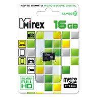 <b>Карта памяти</b> Mirex microSDHC <b>16Gb</b> Class 10 (13612-MC10SD16)