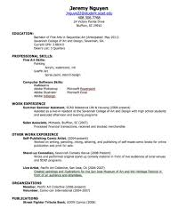 work experience resume examples good resume examples for high       job experience resume Rufoot Resumes  Esay  and Templates