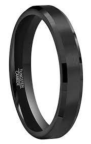 RoyalKay 4mm 6mm <b>8mm</b> Black Tungsten Wedding Band <b>Ring Men</b> ...