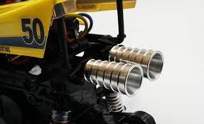 (#TAWR-026SV) <b>Aluminum</b> Muffler <b>2pcs</b> For Tamiya WR02 ...