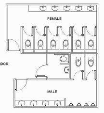 architecture bathroom toilet: resultado de imagem para public toilet layout dimensions
