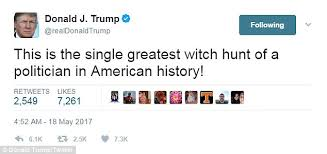 Image result for the witch hunt against Trump