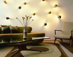 unusual wall lamps on white budget living room furniture