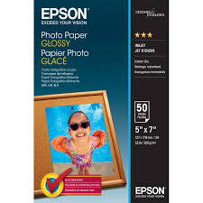 <b>Epson</b> C13S042545 13 x 18 cm <b>Glossy</b> Photo <b>Paper</b> Pack of 50 ...