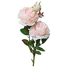 ShineBear Artificial Flower 1pc <b>Artificial Fake Western Rose</b> Flower ...
