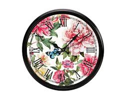 "<b>Michel Design Works</b> wall clock ""<b>Peony</b>"" - Renio & Clark"