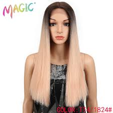"<b>Magic Hair</b> Straight Lace Front Wigs For Black Women <b>20""Inch</b> ..."