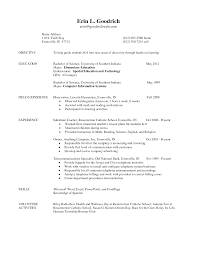 resume for teachers objective sample resume leadership skills resume for teachers objective