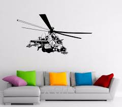 airforce helicopter military decals creative wall art removable stickers vinyl die cut office dorm house interior art force office decoration