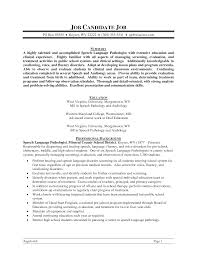 speech therapist resume objective cipanewsletter speech language pathology resume getessay biz
