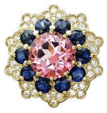 Купить Эстет <b>Кольцо с топазом</b>, <b>сапфирами</b> и бриллиантами из ...