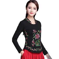 Traditional <b>Chinese</b> Shirt <b>Clothing For</b> Women <b>Embroidery</b> 5XL ...