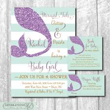 mermaid baby shower invitation matching diaper raffle ticket mermaid baby shower invitation matching diaper raffle ticket book request insert digital files or printing wording can be changed baby showers