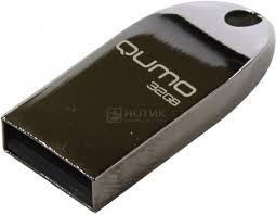 Флешка Qumo Cosmos 32Gb, USB 2.0, Серебристый ... - Нотик