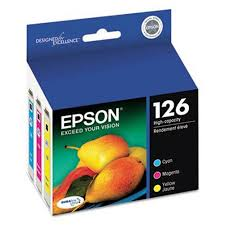 Genuine <b>Epson</b> 126 - T126520 <b>High</b>-<b>Capacity</b> Color Ink Cartridge ...