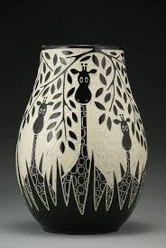 shop artist made ceramic vases and vessels artful home giraffes in the wild by jennifer falter ceramic vase