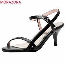 MORAZORA 2019 <b>wholesale plus size</b> 34-43 women sandals slip ...