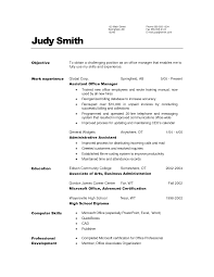 general sample resume objectives objective and office work cover letter general sample resume objectives objective and office work experience as assistant manager education in
