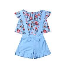 <b>2019 Summer Kids</b> Girl Clothes Sets Fashion Girl Shoulderless ...
