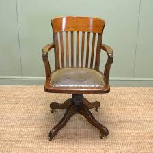 quality edwardian oak antique swivel office chair antique swivel office chair