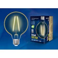 <b>LED</b>-<b>G95</b>-<b>4W</b>/<b>GOLDEN</b>/<b>E27 GLV21GO Лампа</b> светодиодная ...