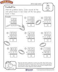 Football Fun – 2nd Grade Math Worksheets – JumpStartFootball Fun. Football Fun - Free Math Worksheet ...