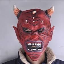 Scary <b>Latex</b> Halloween <b>Devil</b> Horn Skeleton Hood Face <b>Mask</b> Horror ...