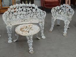 pcs antique cast iron garden furniture includes benc iron antique patio furniture antique rod iron patio