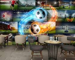 <b>Custom 3d Wallpaper</b> Walls Bedroom Living Room Football <b>Star</b> ...